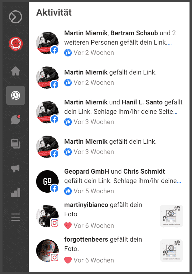Facebook-Business-Suite-Aktivität