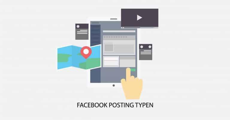 Facebook Posting Typen