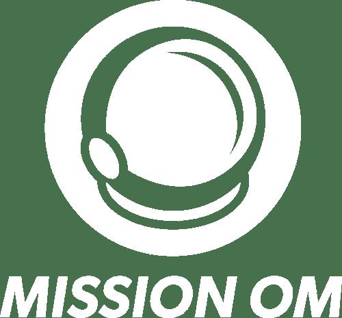 MISSION OM Logo über Schriftzug