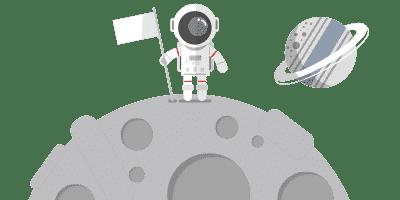 MISSION OM Astronaut auf Mond